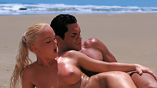 Sex on the Beach with Lovely Silvia Saint Sucking Dick