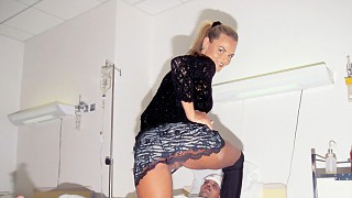 A Man in a Hospital Bed Gets a Blowjob and Then Even More