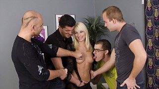 Lena Cova Gangbang Facial Party