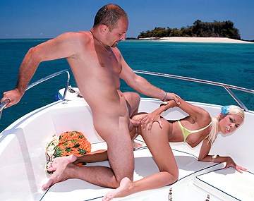 Private  porn video: Boroka Balls Gets Laid by Two Guys on a Boat before Getting Facialed