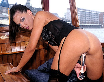 Private  porn video: Dru Berrymore Masturbates for the Pilot of Her Boat Using a Butt Toy