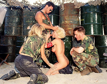 Private  porn video: Uniformed Soldiers Capture Rachel and Tammi Ann and Fuck Them Good