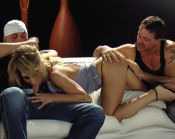 Private HD porn video: Horny Kristi Picks up Three Guys and Brings Them Home for Sex Play