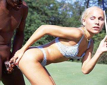 Private  porn video: Sylvia Sun Enjoys an Ass Reaming on the Golf Course