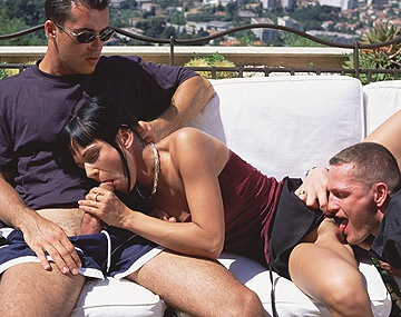Private  porn video: For an 18 Year Old Adrienne Klass Sure Can Handle Two Men