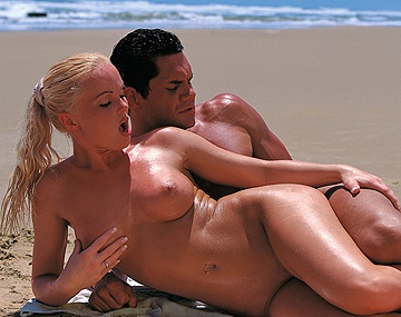 Private  porn video: Sex on the Beach with Lovely Silvia Saint Sucking Dick