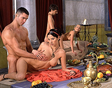 Private  porn video: Dike Lara Stevens and Pocahontas Have Both Holes Poked during an Orgy