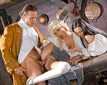 Private  porn video: This Scene Features Nikky and Valentina Getting Laid in Olden Days