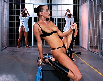 Private  porn video: Mandy Bright and Nika Play with a Lot of Prison Penis