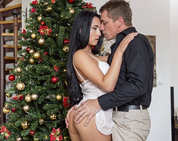 Private HD porn video: Horny Ana Seduces Stepfather and Fucks Him as Her Christmas Gift